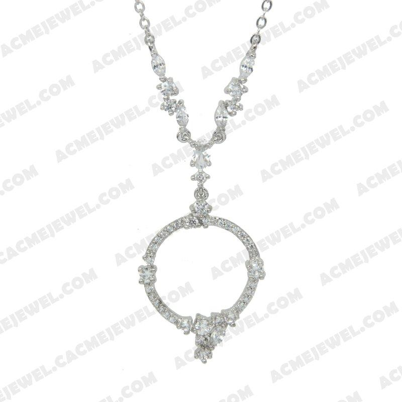 Necklace 925 Sterling Silver  Rhodium
