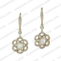Earrings 925 sterling silver   Gold