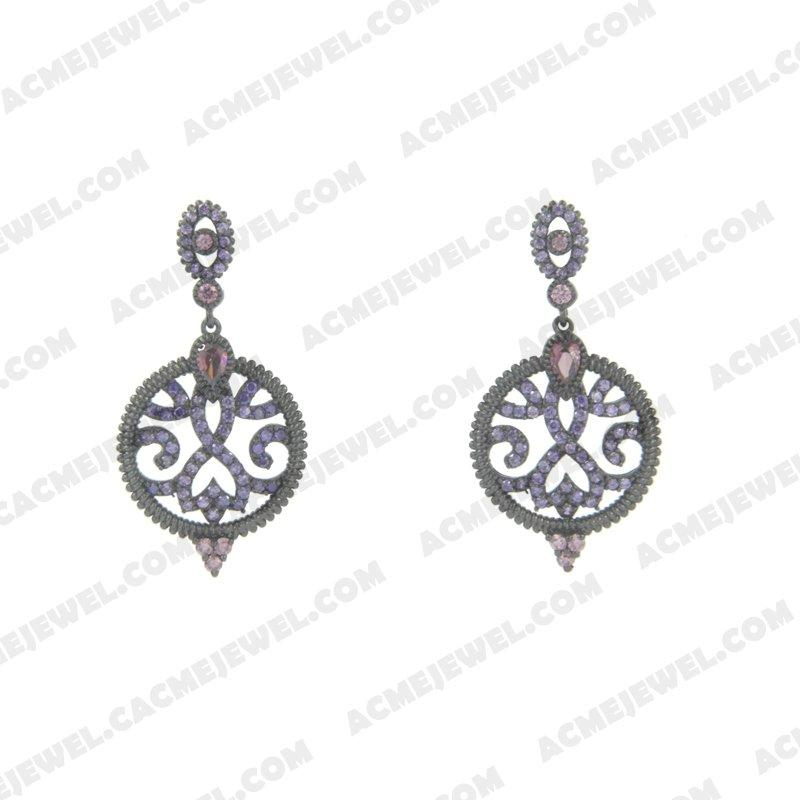 Earrings 925 sterling silver   Black rhodium
