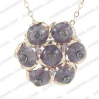 Pendants 925 sterling silver  2-tone Rose gold and black rhodium